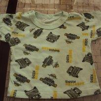 camiseta basica - 6 meses - Não informada