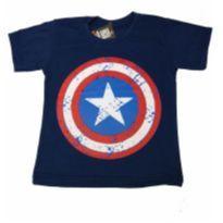 Camiseta Escudo Capitao America - 2 anos - Não informada