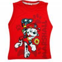 Camiseta Regata Patrulha Canina Nova - 2 anos - Não informada