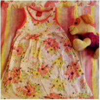 Vestido branco florido - 3 anos - Kyly