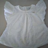 Batinha branca em lese bordada (MOMI) - 10 anos - Momi