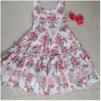 Vestido Floral Festa (Cattaí) - 8 anos - Cattai