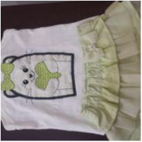 Saia e blusa gatinho bordado - 3 anos - Miss Trm