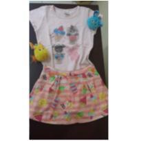 Camiseta e short-saia - 4 anos - Elian