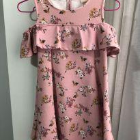 Vestido Floral Rosa - 8 anos - Zara