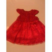 vestido de festas - Natal - 6 a 9 meses - Importada