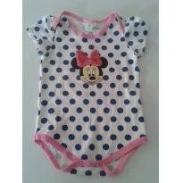 Body Minnie de bolinha - 3 a 6 meses - Disney baby