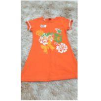 Vestido laranja - 4 anos - Sem marca