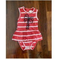 vestido body navy tropical fábula - 18 meses - Fábula