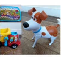 kit brinquedos - painel interativo, caminhãozinho e cachorro Max -  - Vtech e Leap frog