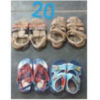 Kit 4 sandálias infantil menino Tam 20