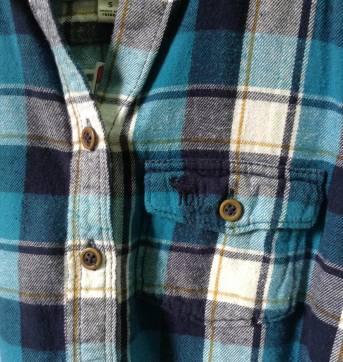 Camisa social Abercrombie flanelada - 7 anos - Abercrombie
