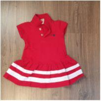 Vestido Vermelho estilo Polo Colloritá - 18 a 24 meses - Colorittá