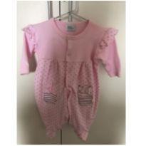 Macaquinho Poá Rosa - 0 a 3 meses - Baby fashion
