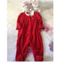 Macacão Vermelho de Plush - 3 meses - Ralph Lauren
