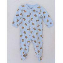 Pijama macacão Child of mine carter`s algodão tamanho 6-9m com pés - 6 a 9 meses - Child of Mine