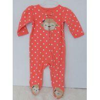 Pijama macacão just on you by carter`s tamanho 6m com pés e ziper - 6 meses - Carter`s