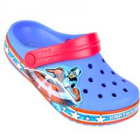 Sandália Crocs Infantil Crocband Captain America Clog - Azul - 26 - Crocs