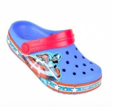 Sandália Crocs Infantil Captain America Clog - Azul n.25 - 25 - Crocs