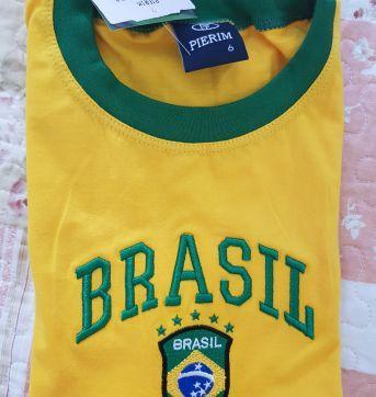 Camiseta do Brasil - 6 anos - Pierim