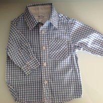 Camisa xadrez azul e branco - 6 a 9 meses - Baby Club