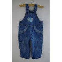 Jardineira jeans (9-12m) - 9 a 12 meses - Teddy Boom