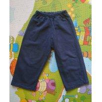 Calça de moletom azul (reta) - 18 meses - Não informada