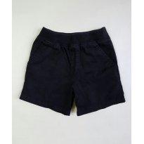 Short preto de sarja com punho na cintura - 2 anos - Baby Okie Dokie - USA
