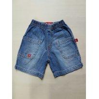 Short jeans azul - 2 anos - um mais um