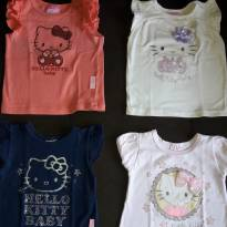 Kit 4 blusinhas Hello Kitty - 9 a 12 meses - Hello Kitty by Sanrio