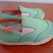 Sapato verde pistacha de couro - 19 - Ortopasso
