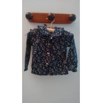 Bata azul floral Camisa RESERVADA - 1 ano - Very Important Children