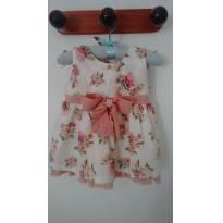 Vestido floral - 9 a 12 meses - Chuquinha baby