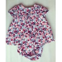 Vestido Florido - 0 a 3 meses - Zara Baby