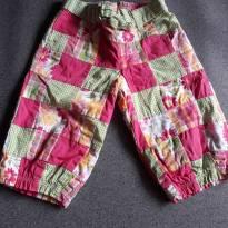 Calça patchwork Gymboree - 18 a 24 meses - Gymboree
