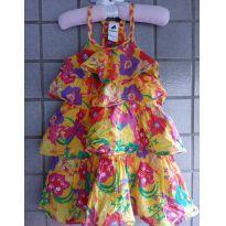 Vestido em camadas amarelo - 2 anos - Palomino