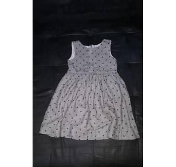 Vestido cinza em lãzinha clássico - 6 anos - Fábula