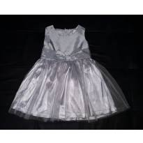 Vestido festa prata - 24 a 36 meses - H&M