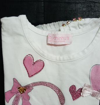 Blusa de gatinha rosa - 10 anos - Pituchinhus