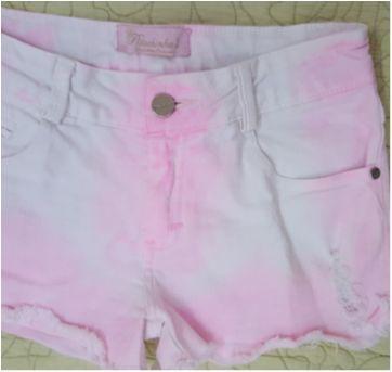 Conjunto short pink e blusa babados - 10 anos - Pituchinhus