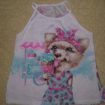 Camiseta cachorrinho sorvete - 10 anos - Momi