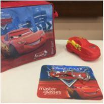 Armação Óculos Infantil Carros Ca1 2801 C12 Prata E Vermelho -  - Disney