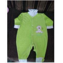 Macacão verde com estampa - 0 a 3 meses - nenhuma