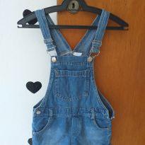 Jardineira jeans - 7 anos - Palomino
