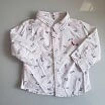 Camisa  branca estampa origami reserva mini - 9 a 12 meses - Reserva mini