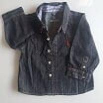 Camisa jeans reserva mini - 9 a 12 meses - Reserva mini