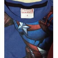 Camiseta regata capitão América - 4 anos - MARVEL