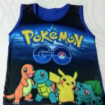 Camiseta regata pokémon - 4 anos - Outros