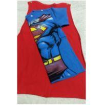Camiseta super Homem com capa - 6 anos - DC Comics