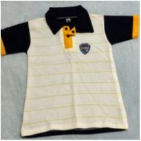 Camiseta Polo Boca Juniors - 6 meses - Não informada